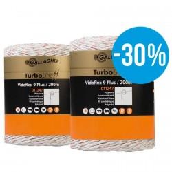 Gallagher Duopack Vidoflex 9 wit (2x200m)