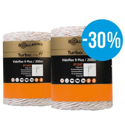 Gallagher Duopack Vidoflex 9 wit (2x200m)